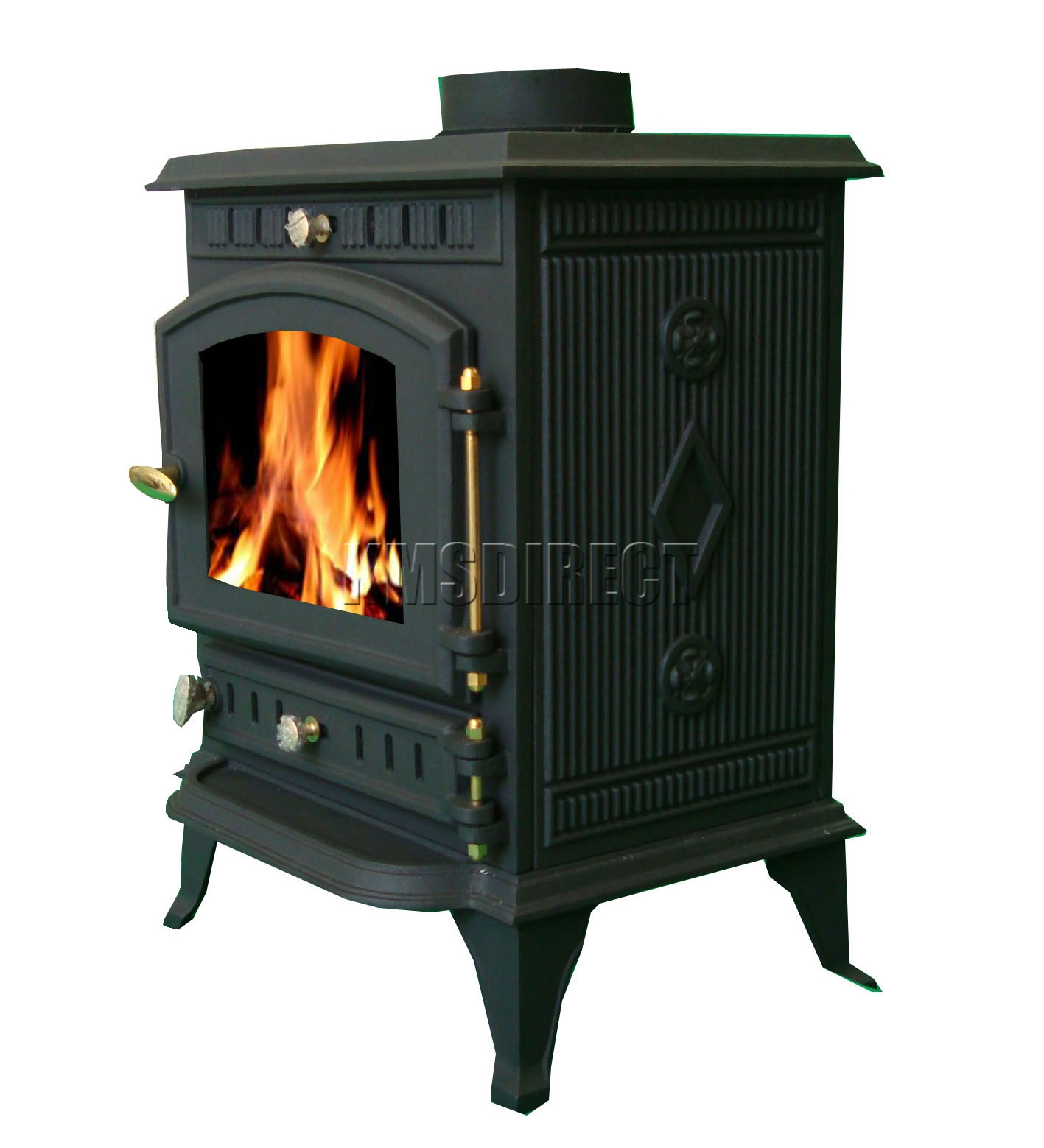 7kw ja010 high efficient cast iron log burner multifuel for Small efficient wood stoves