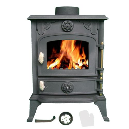 6KW JA013 High Efficient Cast Iron Log Burner Multifuel Woodburning Stove New