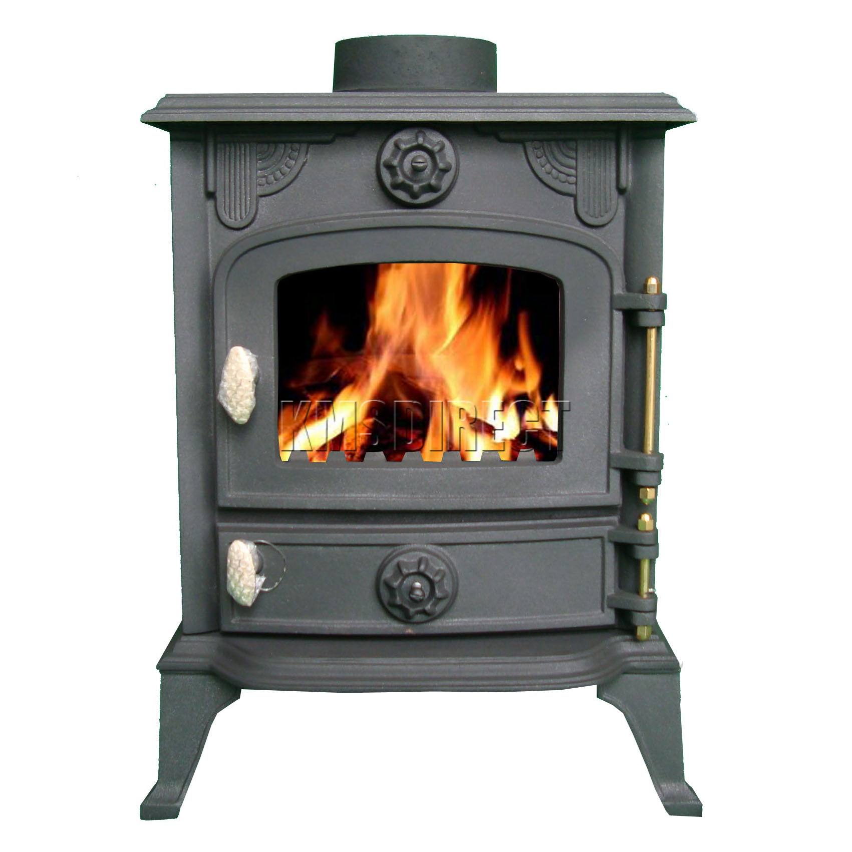 6kw ja013 high efficient cast iron log burner multifuel for Small efficient wood stoves