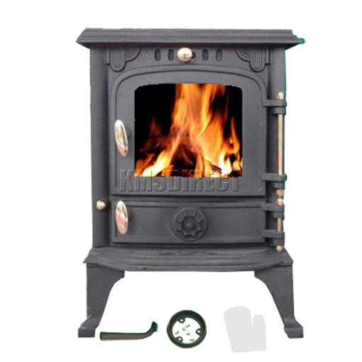 New ja013s woodburning stove 5 5kw high efficient cast for Small efficient wood stoves