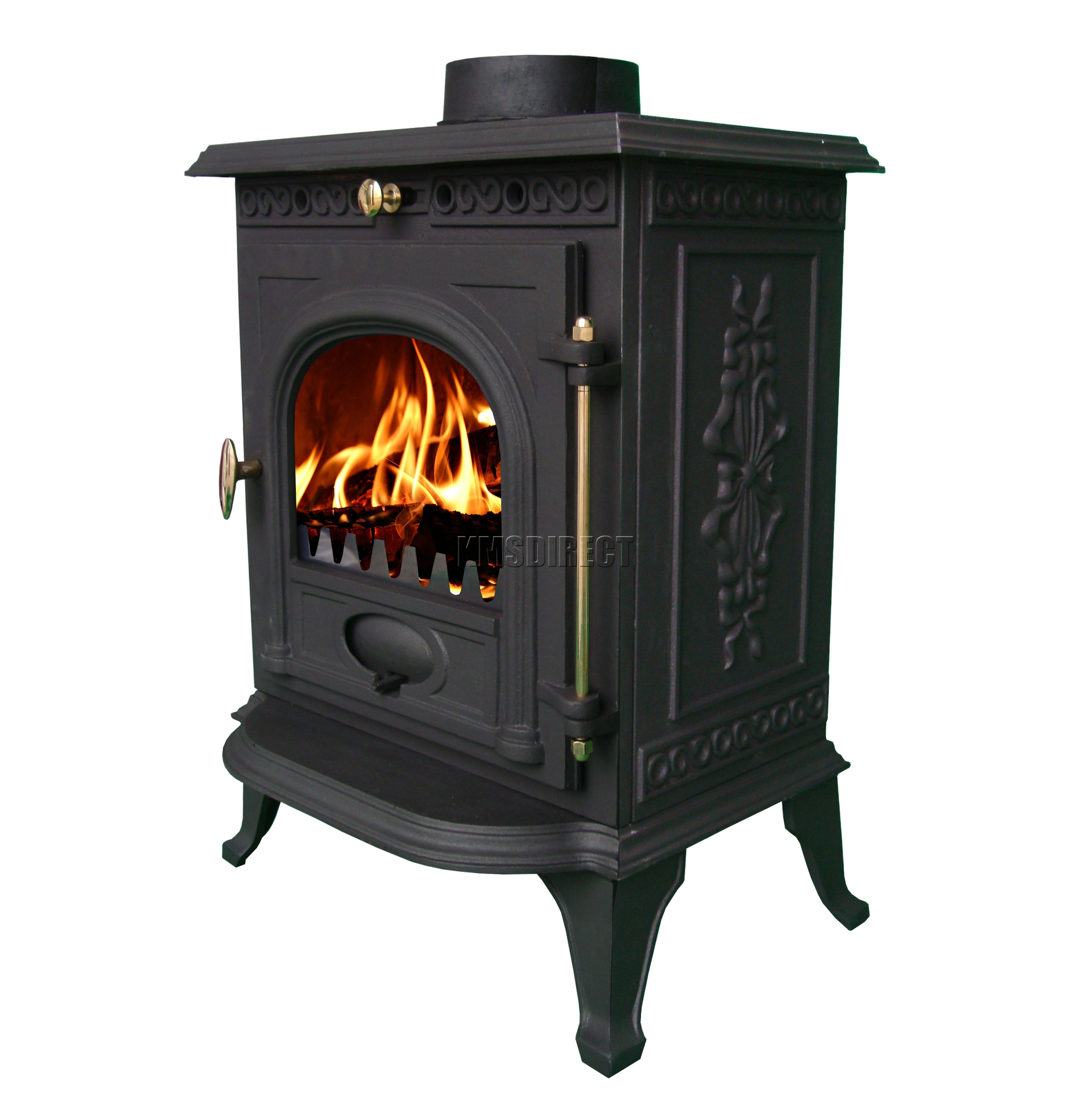 6kw ja014 high efficient cast iron log burner multifuel for Small efficient wood stoves