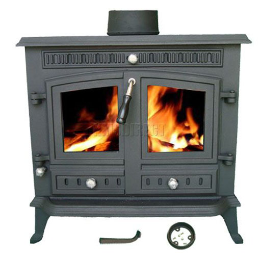 13kw ja032 high efficient cast iron log burner multifuel for Small efficient wood stoves