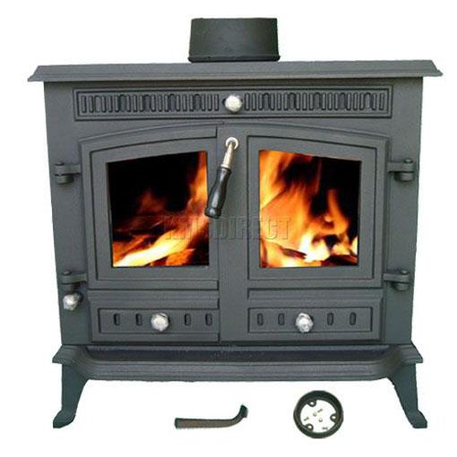 13kw Ja032 High Efficient Cast Iron Log Burner Multifuel