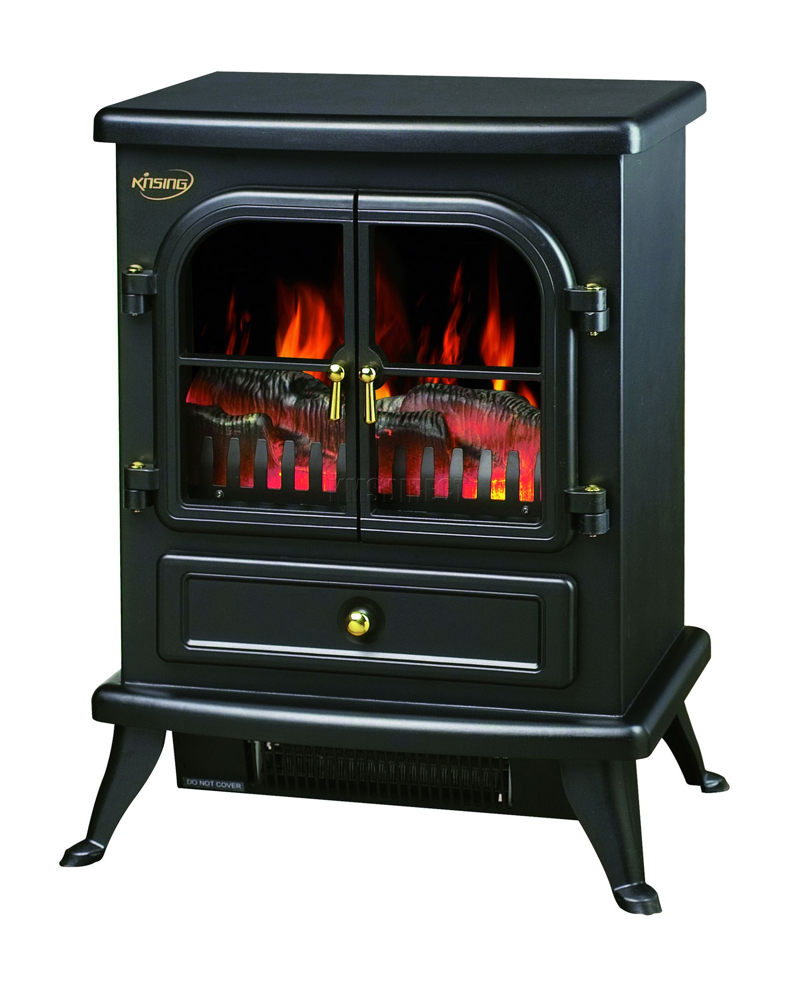 new 1850w log burning flame effect stove electric fire