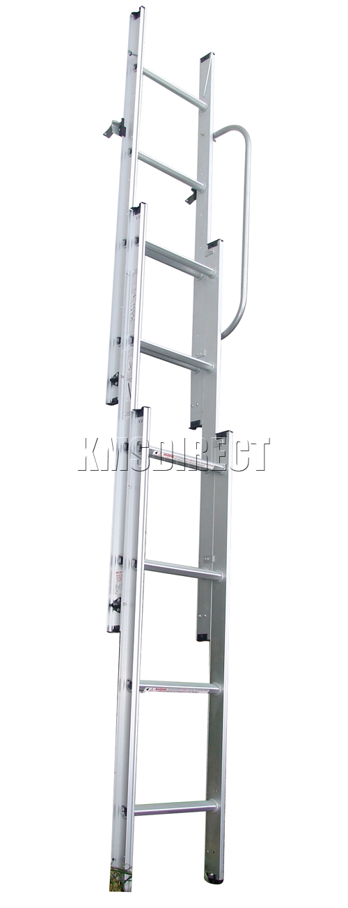 New Aluminium 3 Section Loft Attic Ladder Sliding 3m Meter