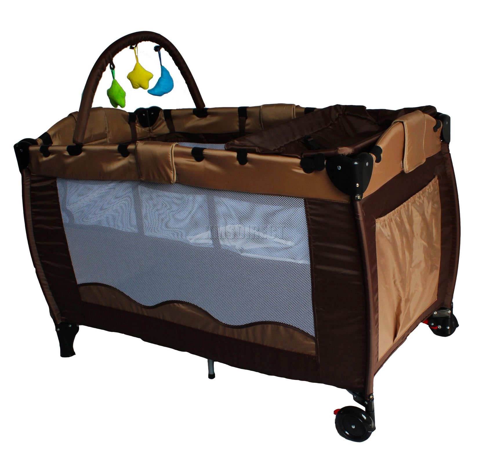 Baby Travel Toys : New brown portable child baby travel cot bed bassinet