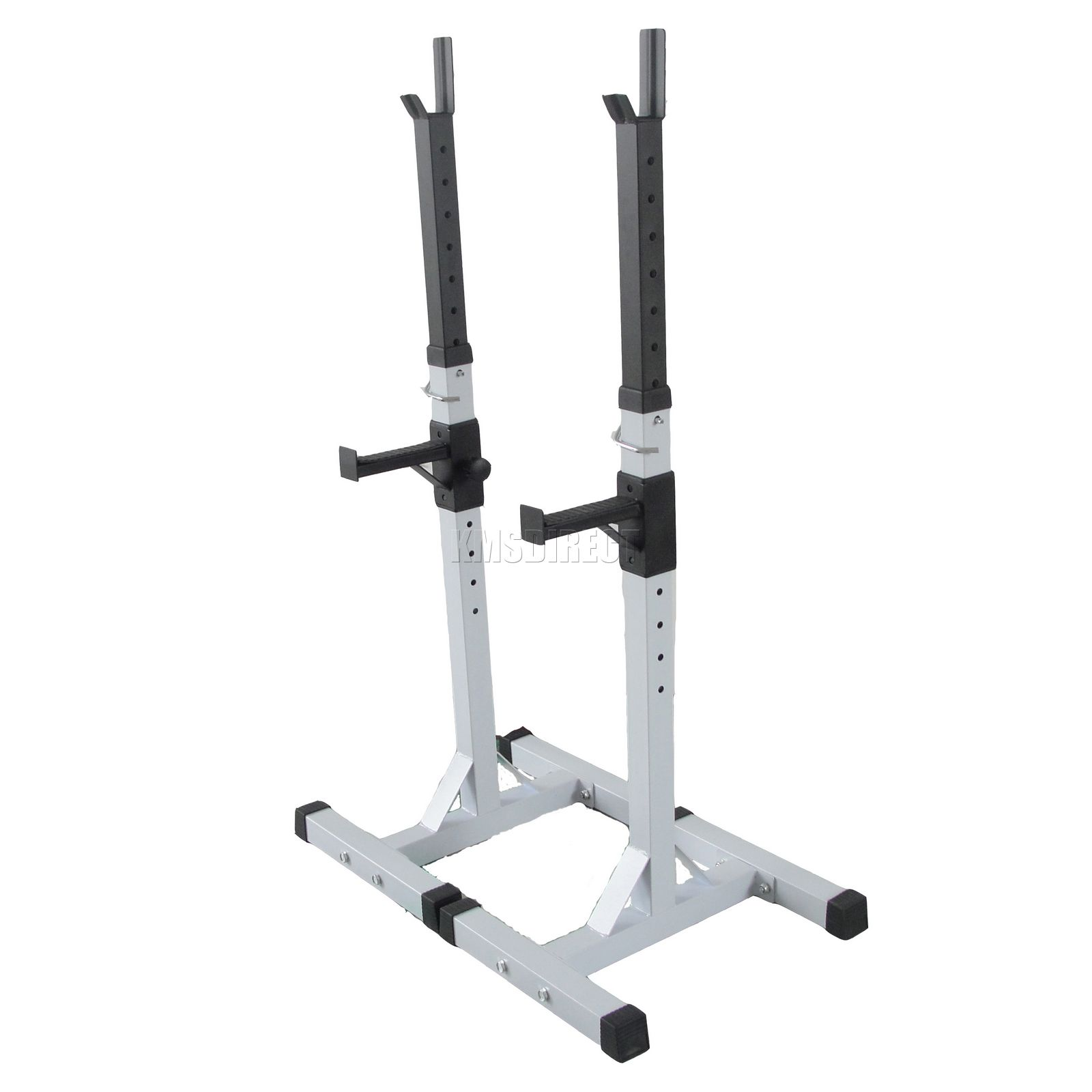 Heavy Duty Adjustable Gym Squat Barbell Power Rack Stand Weight Bench Support Ebay