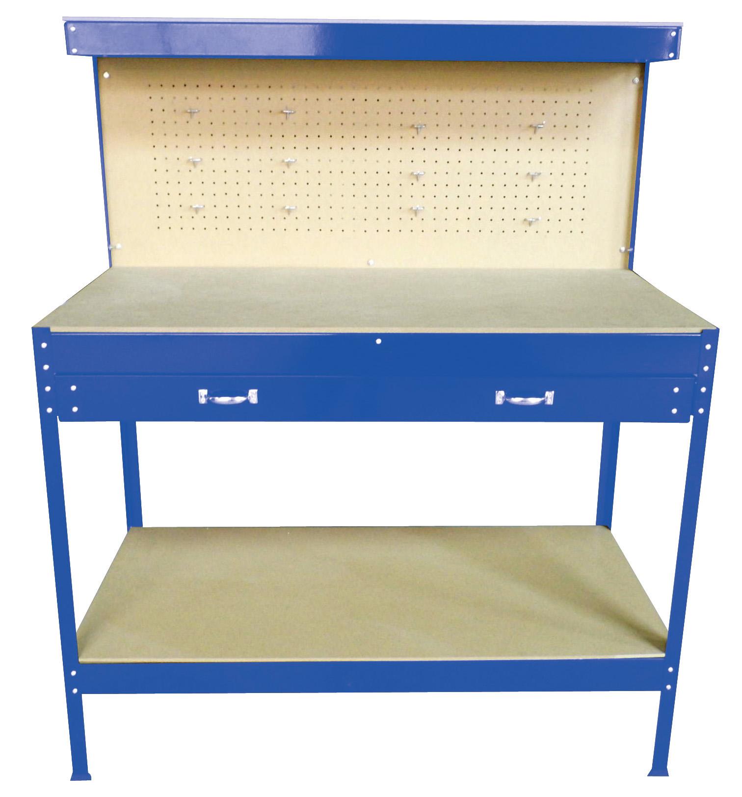 New Blue Steel Tools Box Workbench Garage Workshop Table