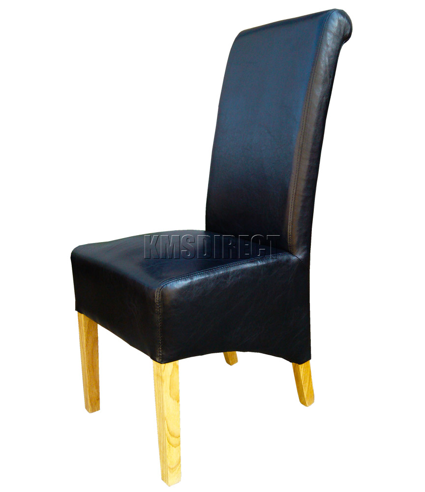 Faux Leather High Back Chairs Premium Dining Chairs Faux Leather