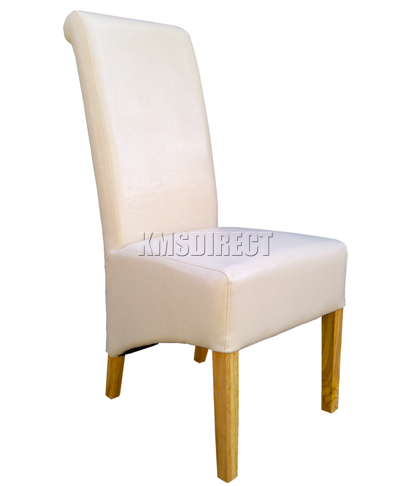 Faux Leather Dining Room Chairs Irvine Interiors Royal Oak Dining Chair Cream Fabric Cast Iron