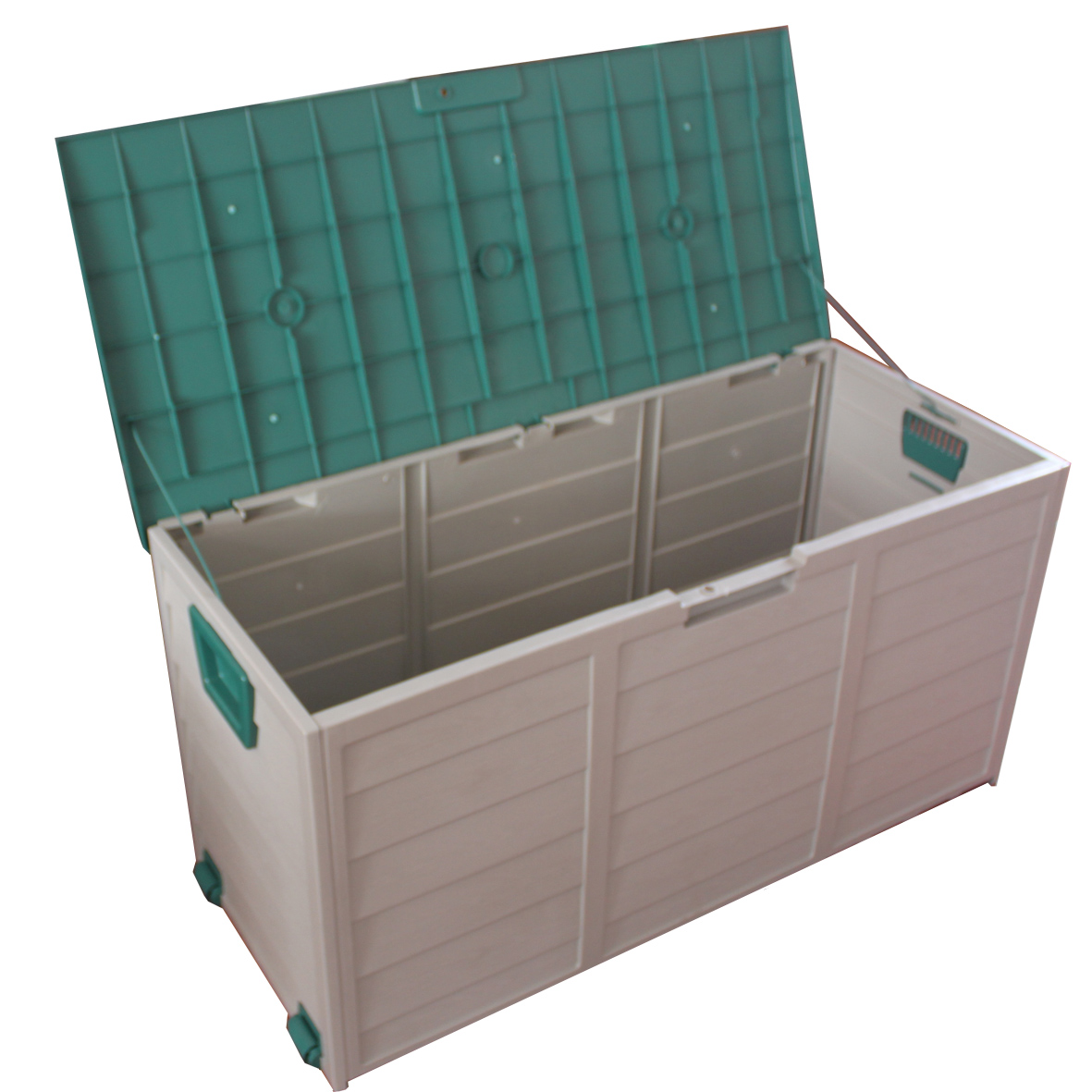 new garden outdoor plastic storage chest shed box case