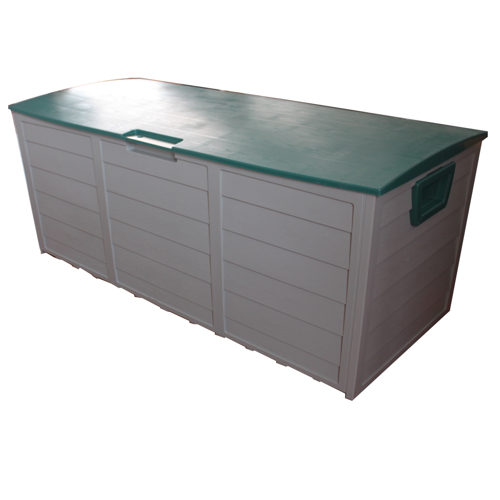 new garden outdoor plastic storage chest shed box case container with