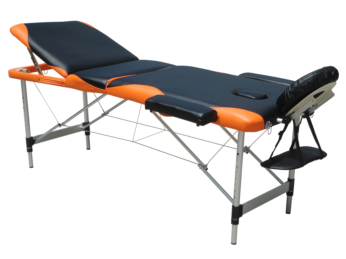 Massage table 3 section lightweight portable folding for Foldable beauty table