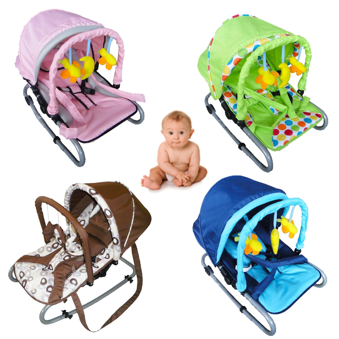 Child Bouncer Baby Infant Bungee Rocker Recline Chair With