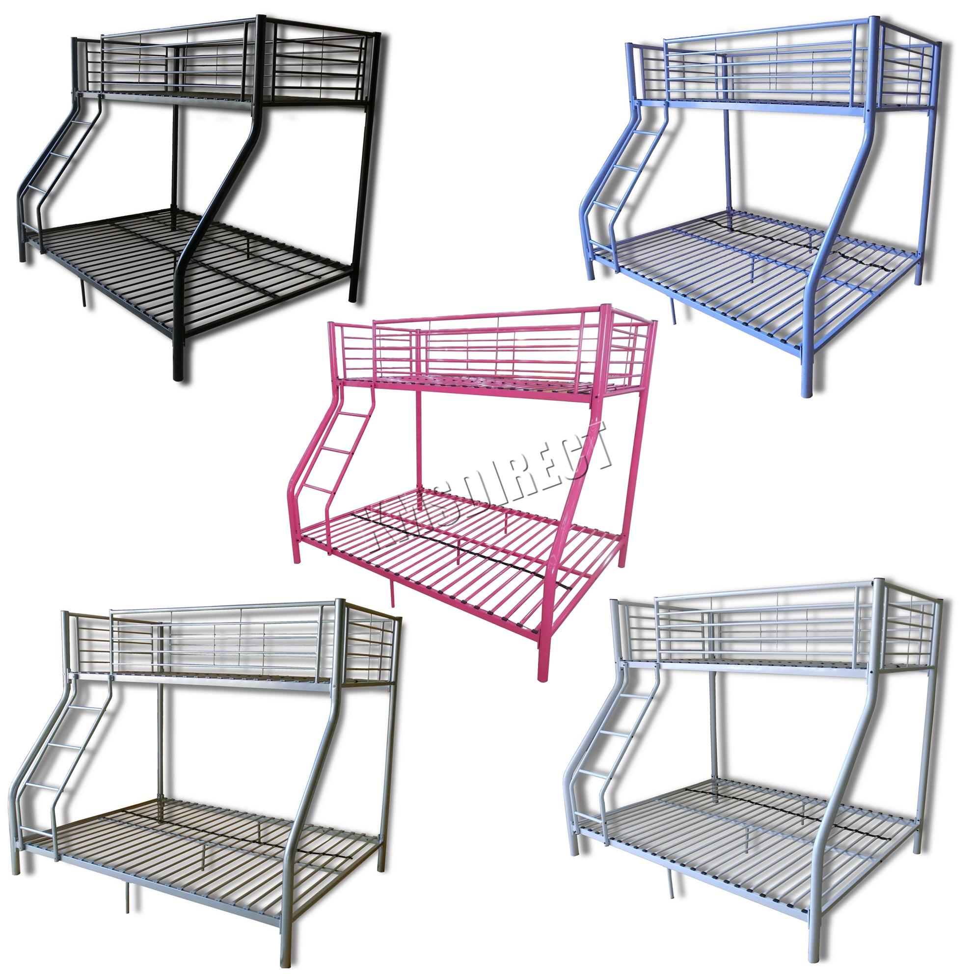 foxhunter lit superpos simple double armature m tallique dormeur triple enfants ebay. Black Bedroom Furniture Sets. Home Design Ideas