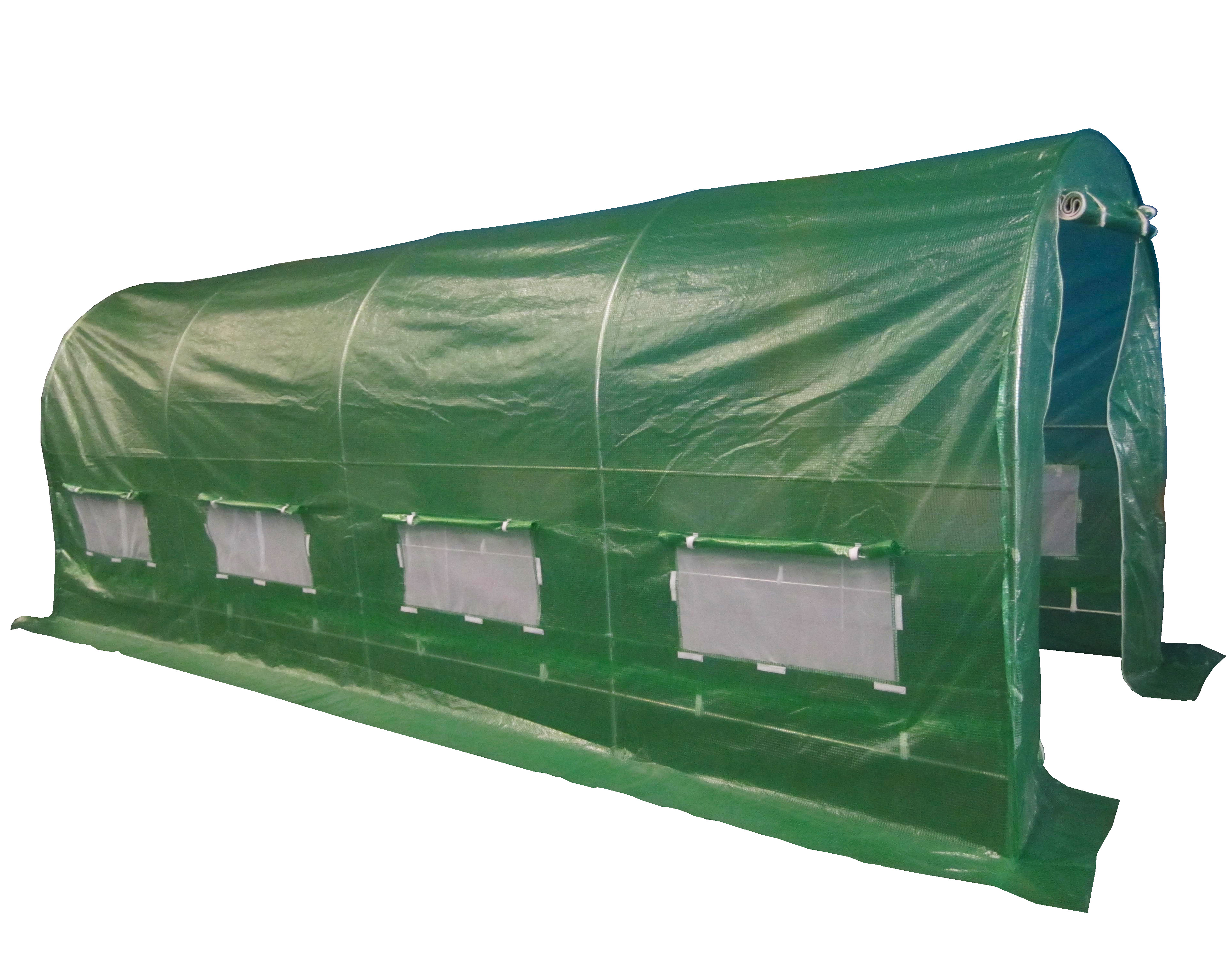 Polytunnel Greenhouse Pollytunnel Poly Tunnel Fully Galvanised Frame 5 6m X 2m