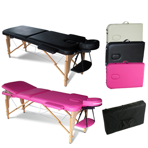 Portable folding massage table therapy beauty salon tattoo for Table salon retractable