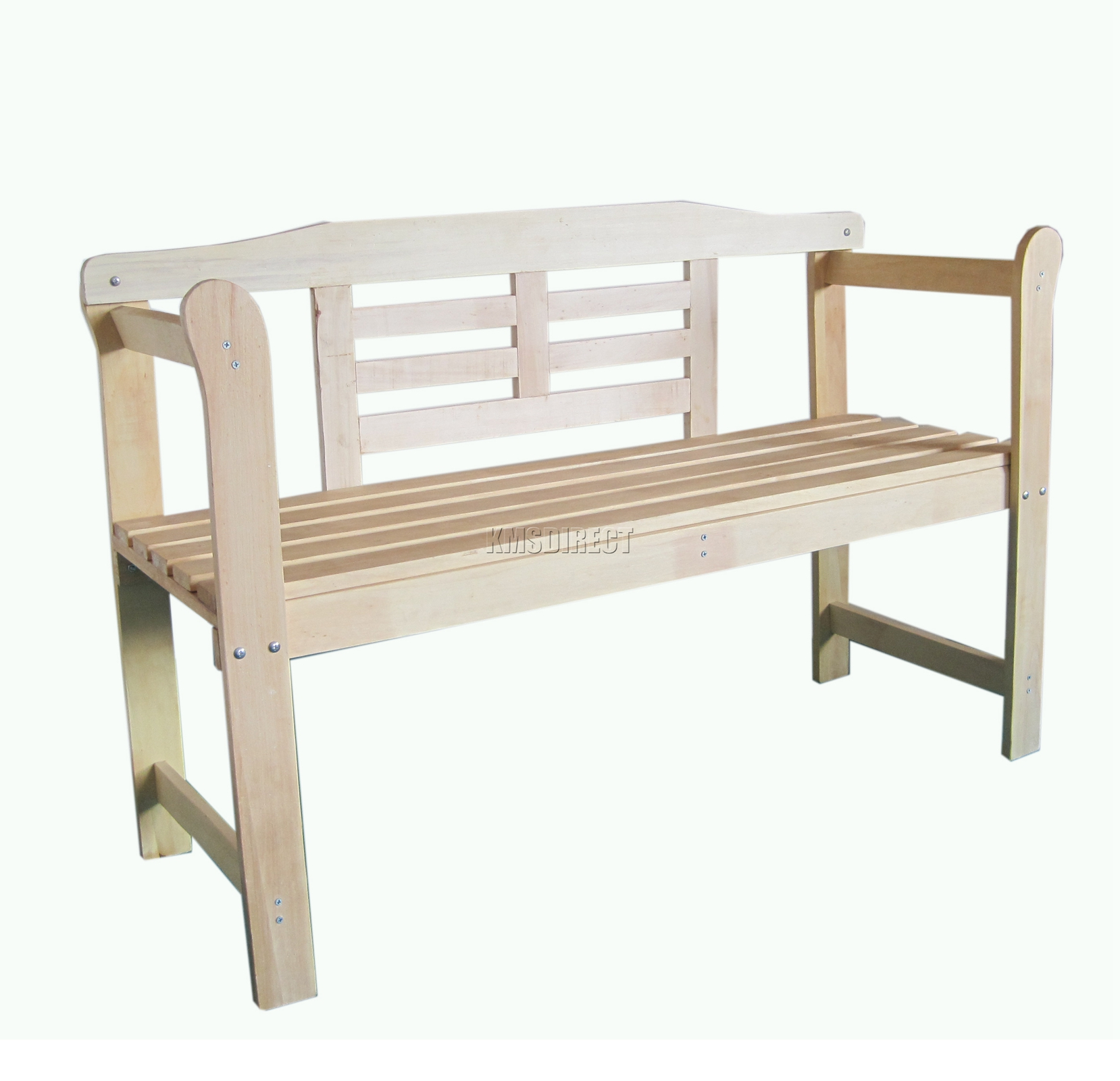 New Outdoor Home 2 Seat Seater Wooden Garden Bench Hardwood Furniture Patio Park Ebay