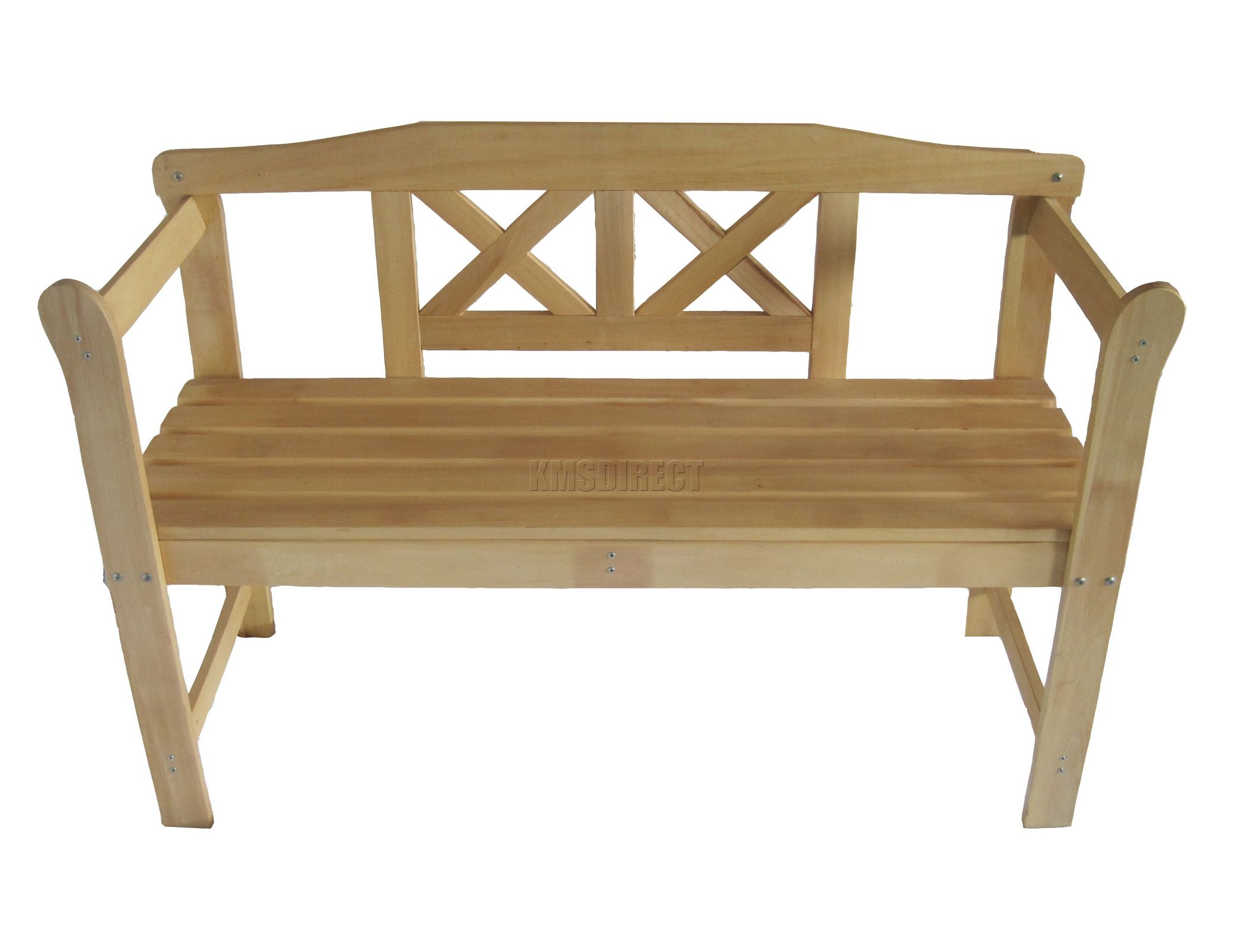 Outdoor Home Wooden 2 Seat Seater Garden Bench Furniture Patio Park Wood 031