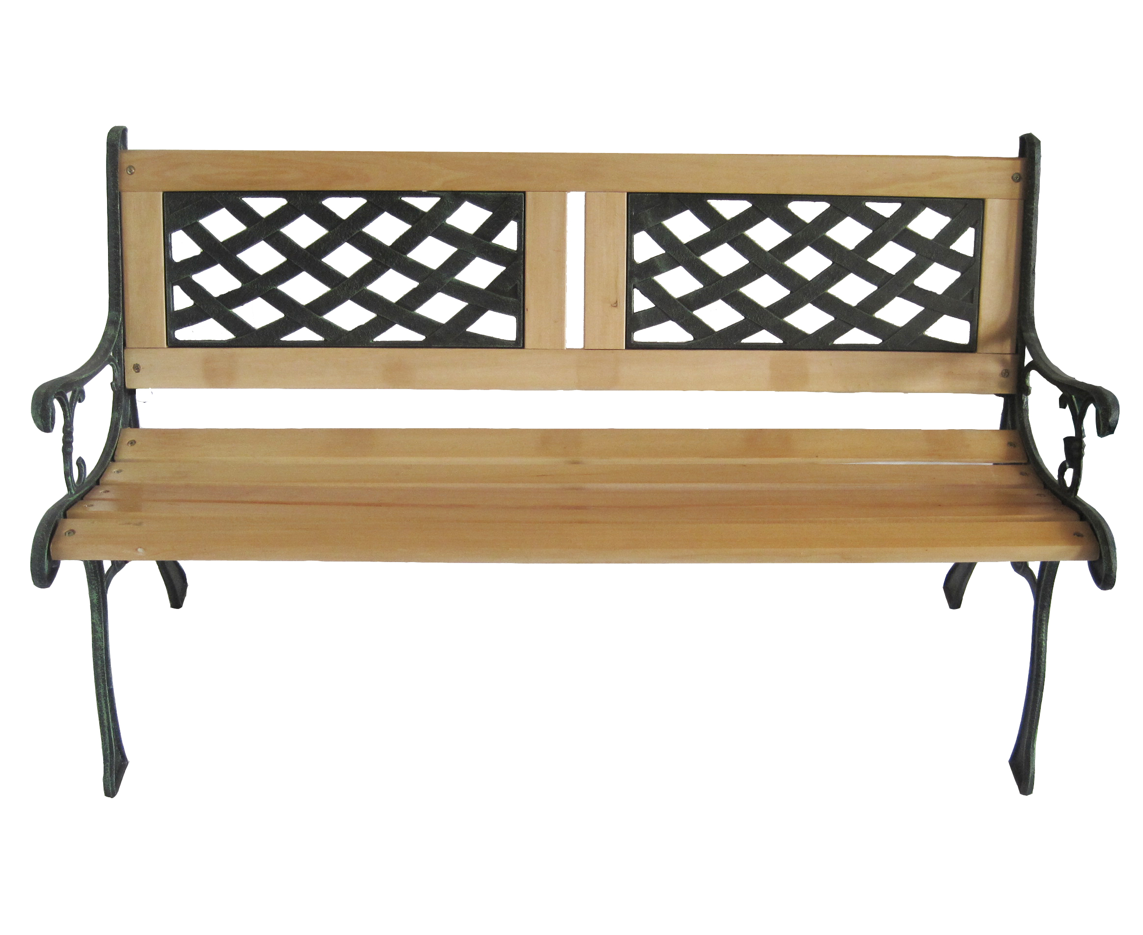 New 3 seater outdoor home wooden garden bench with cast for Outdoor furniture 3 seater