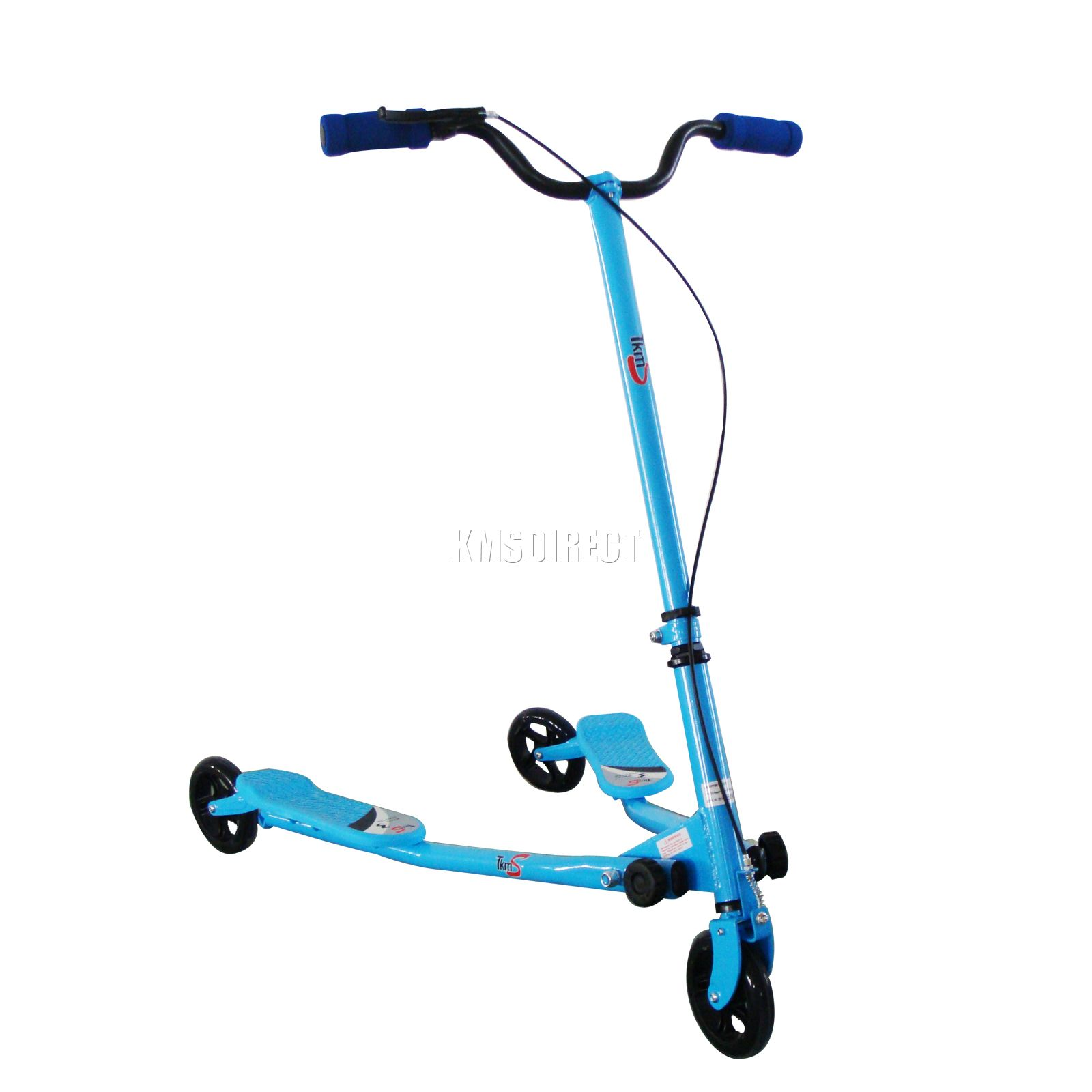 New Kids 3 Wheels Tri Motion Slider Winged Push Scooter Drifter Flicker Blue