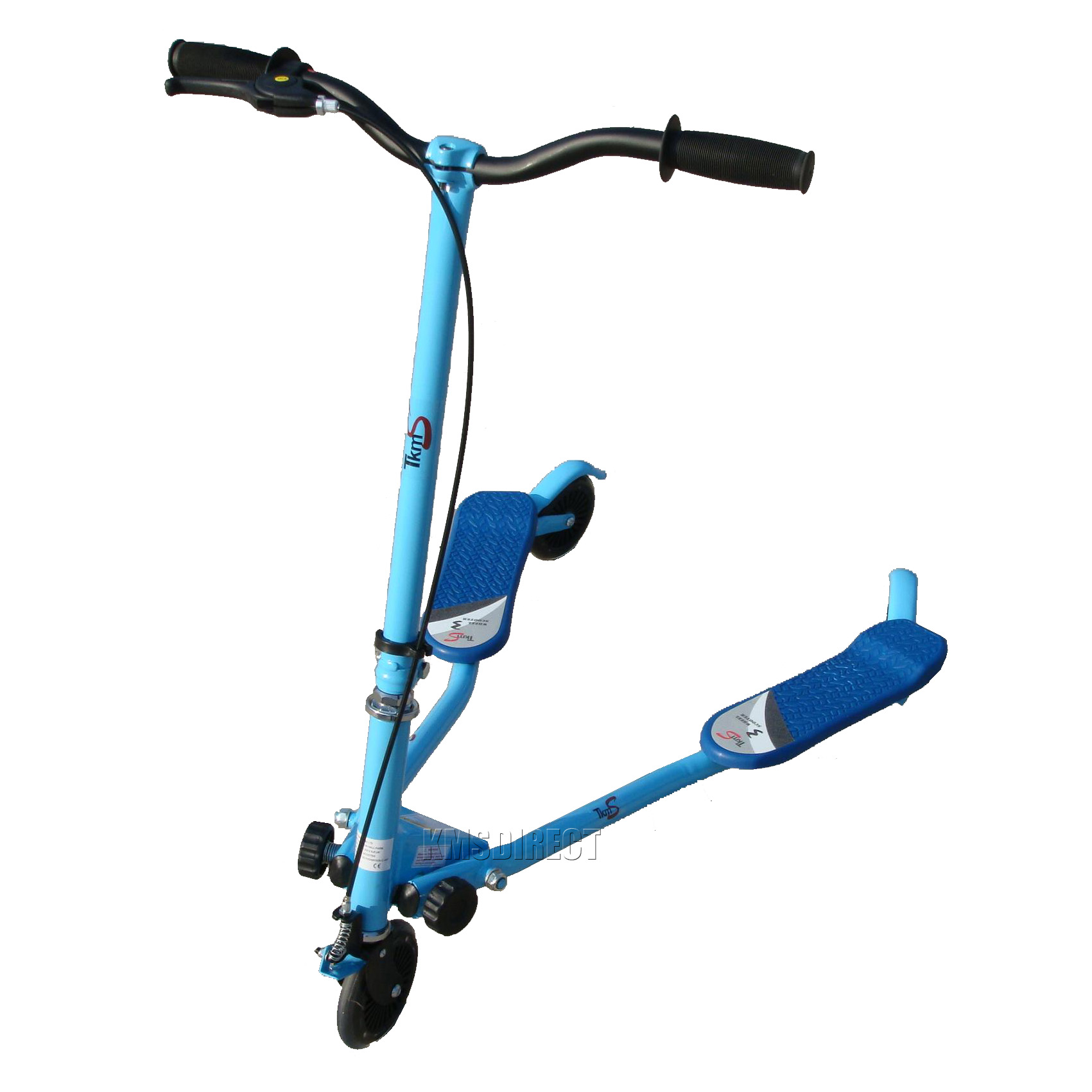 New Kid 3 Wheels Mini Tri Scooter Push Motion Slider Drifter Flicker Blue Small | eBay