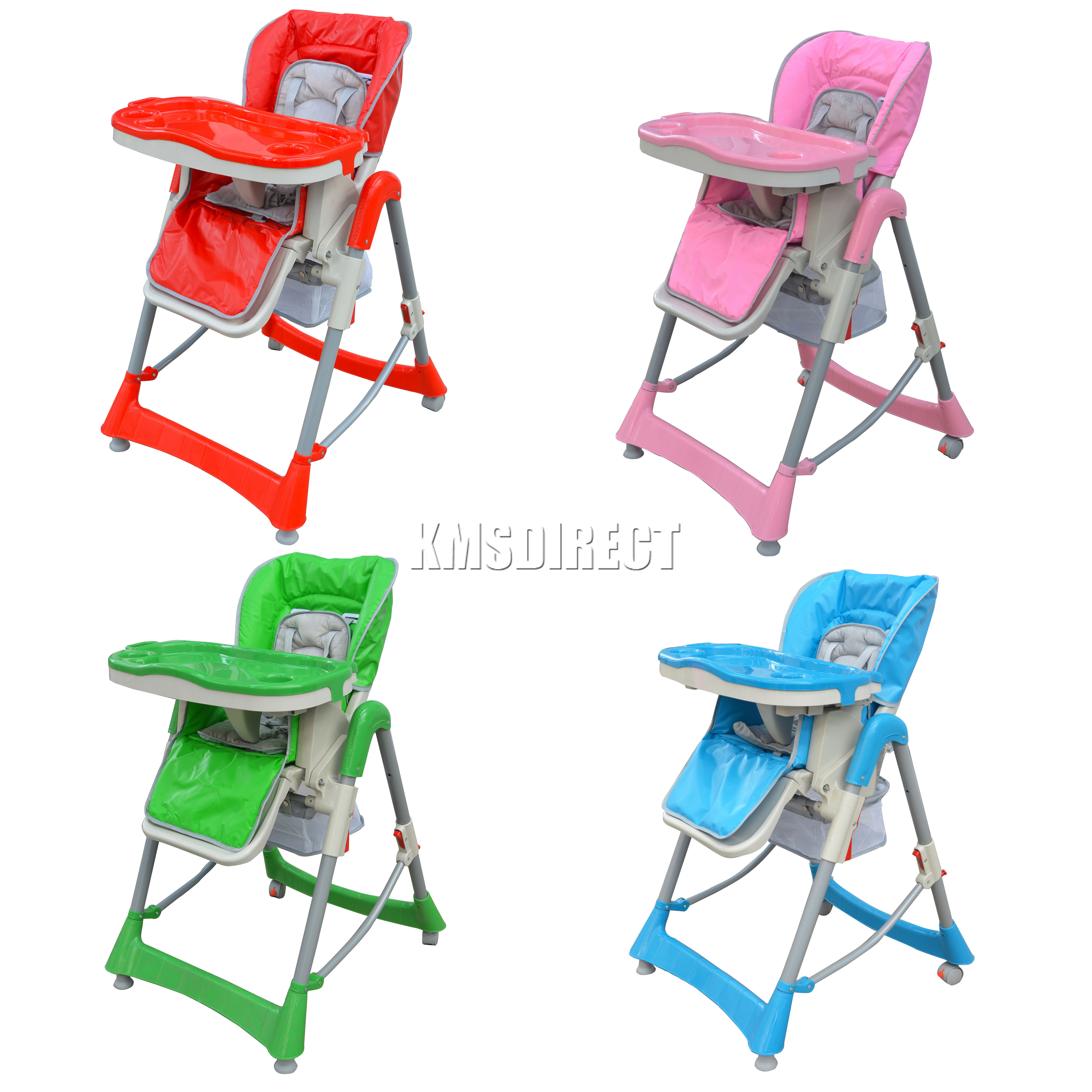 Foldable Baby High Chair Recline Highchair Height
