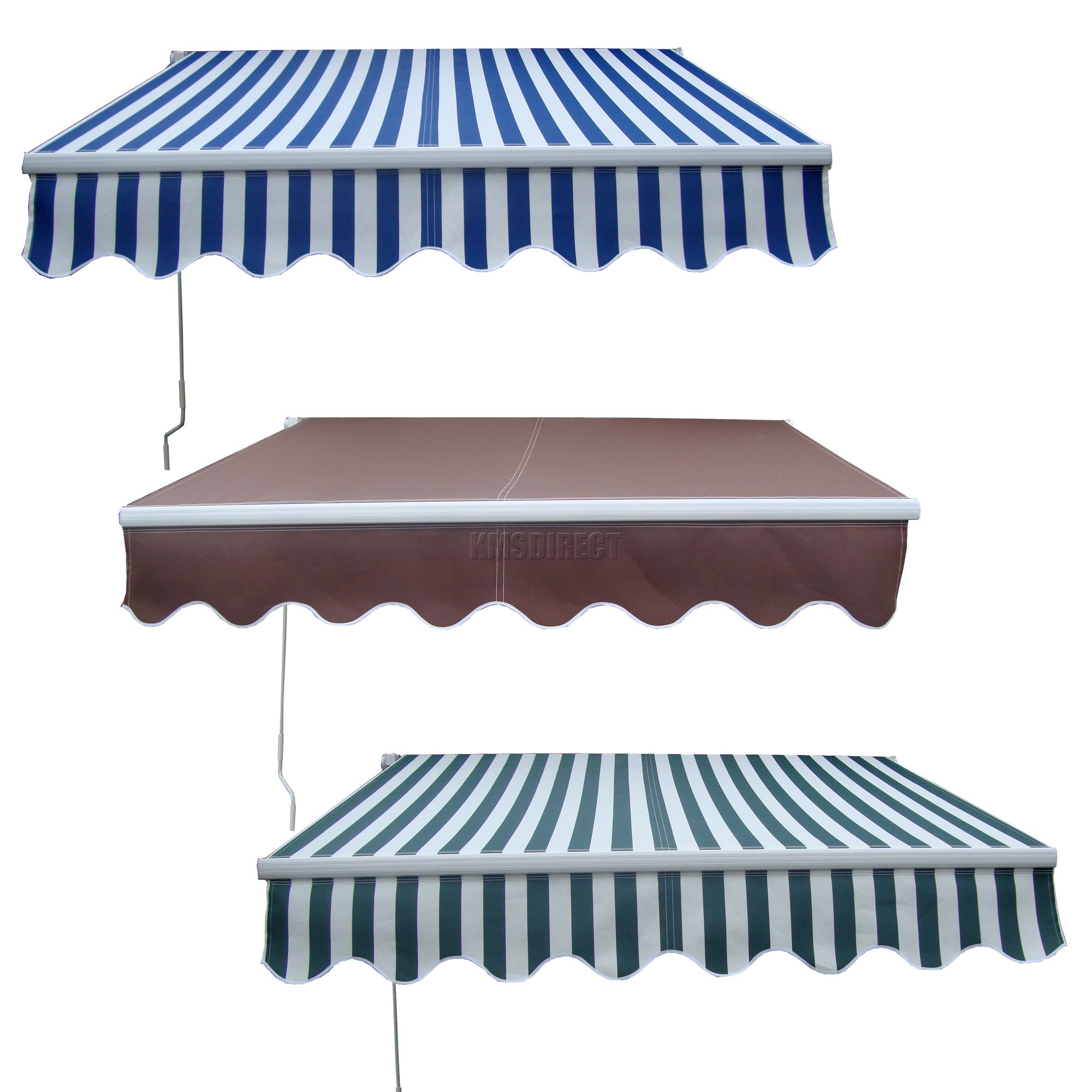 Garden Patio Manual Aluminium Retractable Awning Canopy