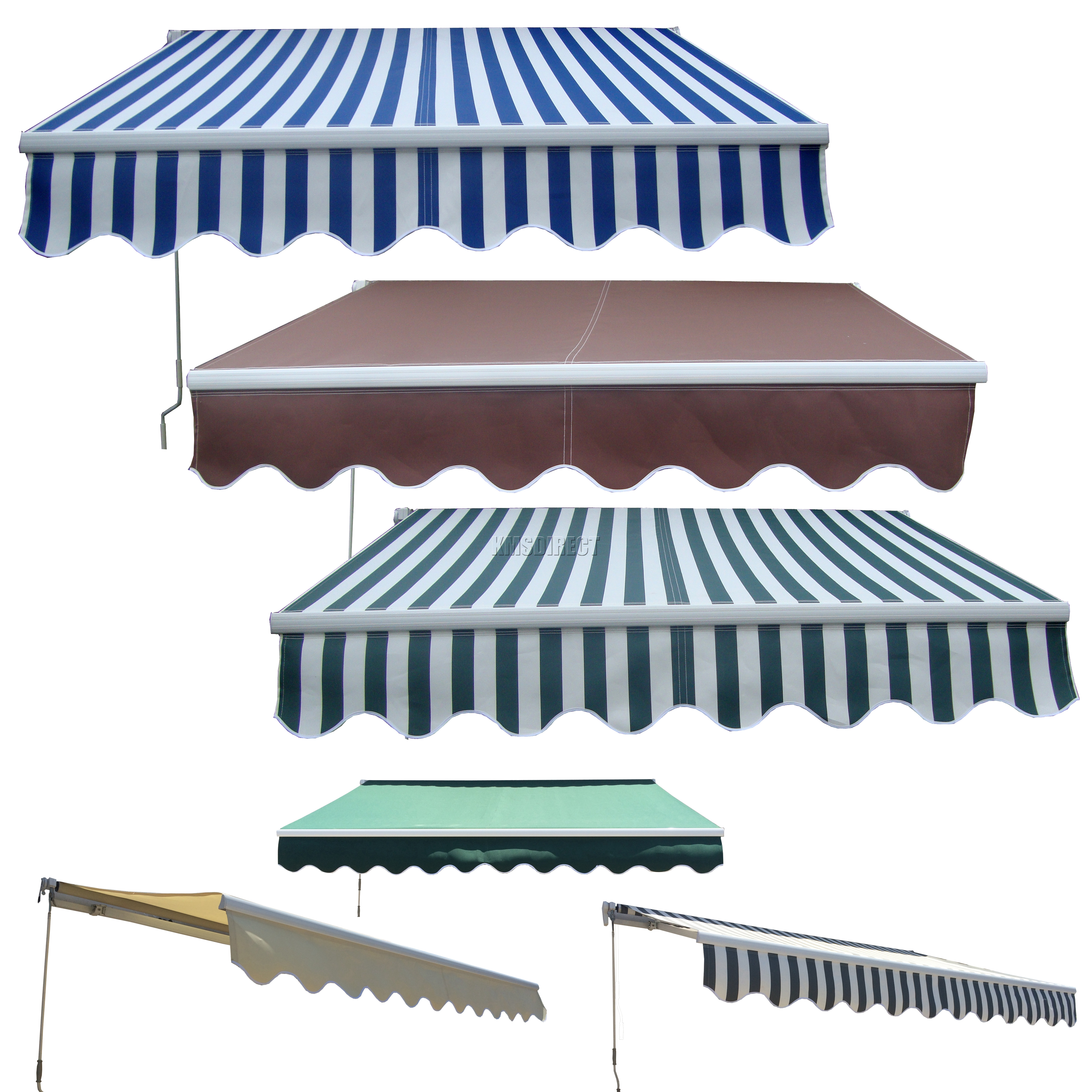 new manual aluminium retractable awning canopy garden patio sun shade shelter - Canopy