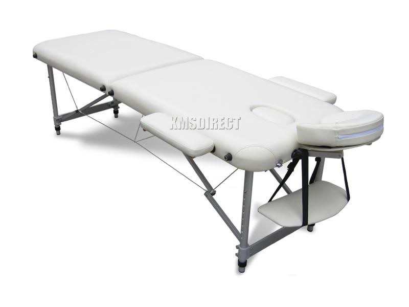 beige portabel massage tisch bett beauty therapie sofa 2 abschnitt alu abdeckung ebay. Black Bedroom Furniture Sets. Home Design Ideas