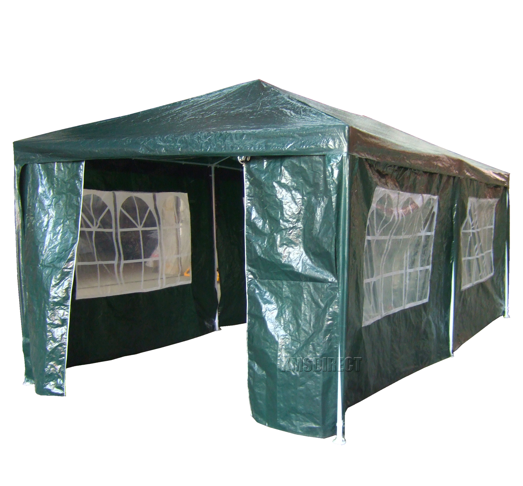 garten pavillon 3m x 6m gr n 120g wasserdicht pe marquee baldachin party zelt ebay. Black Bedroom Furniture Sets. Home Design Ideas