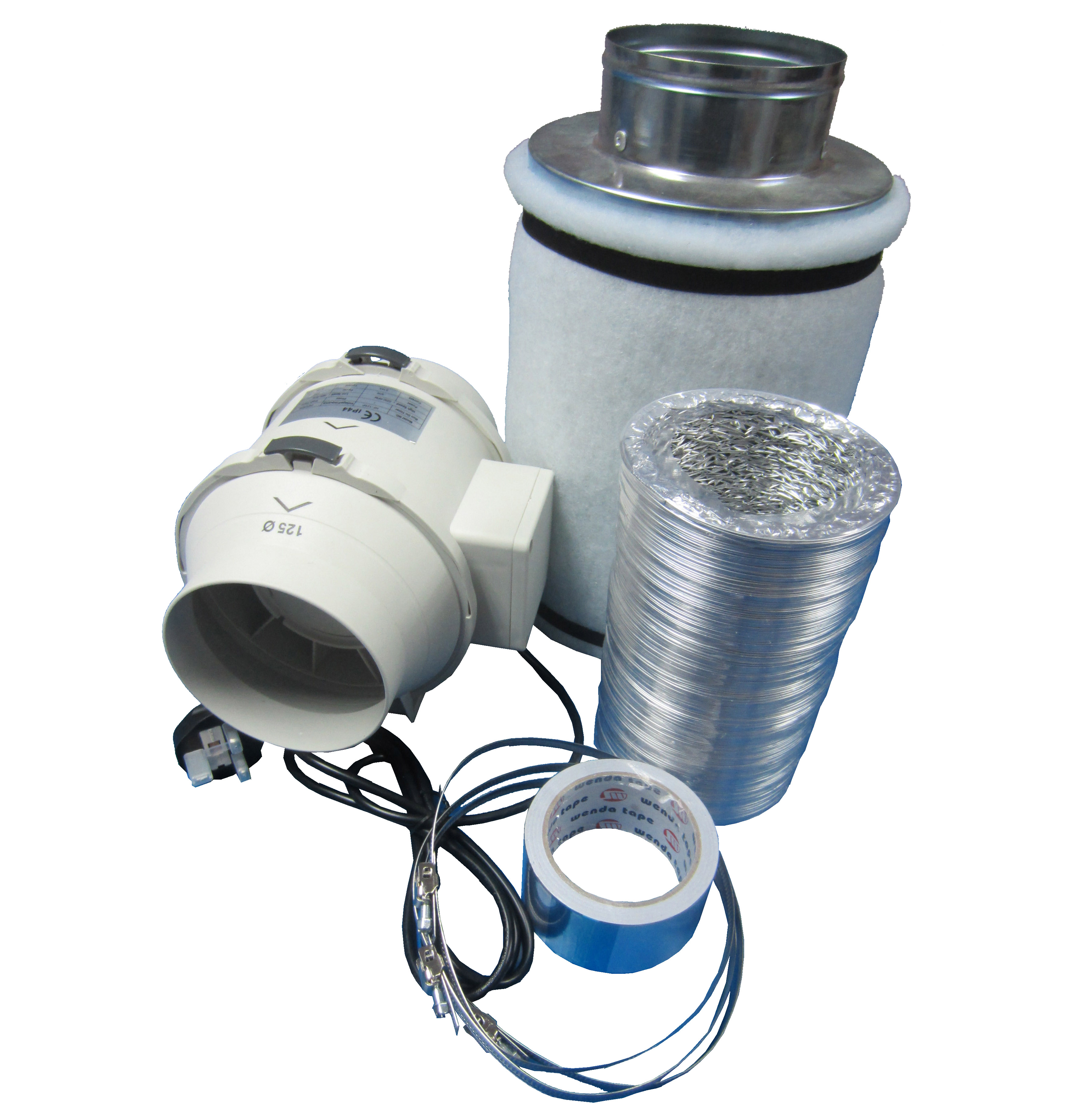 Grow Tent Hydroponic inline Ventilation Kit Carbon Filter ...