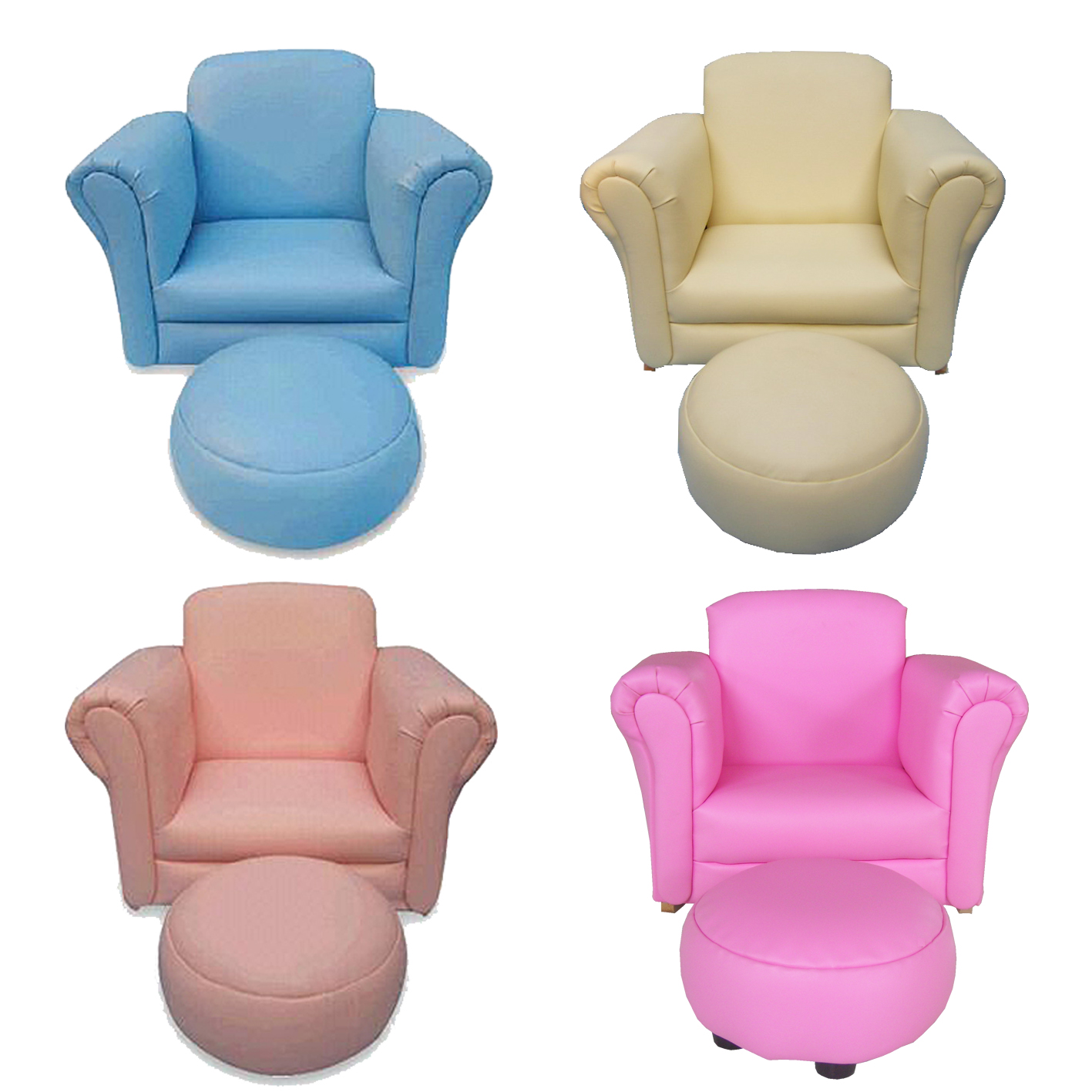 Children kids child sofa furniture armchair couch seat on for Childrens armchair and footstool