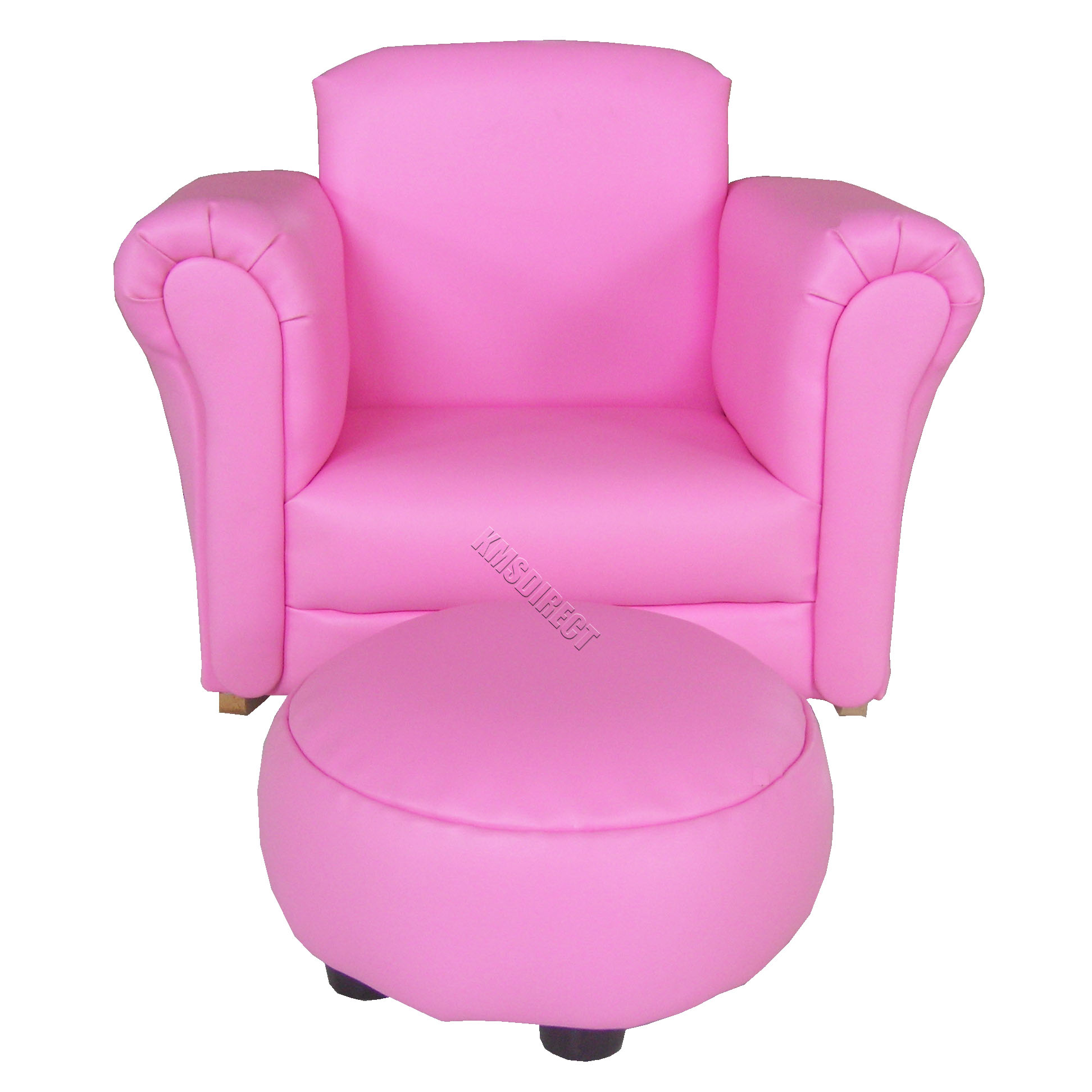 Dark pink children kids child sofa furniture arm chair for Pink kids chair