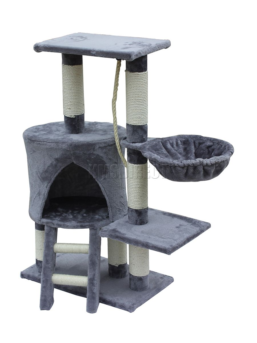 H91cm Cat Toy Climbing Furniture With Play Ball Cat Scratching Wood for Cat Multi functionable