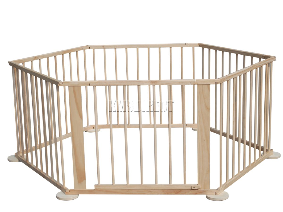 foxhunter baby child foldable playpen play pen room divider wooden  - sentinel foxhunter baby child foldable playpen play pen room divider wooden side new