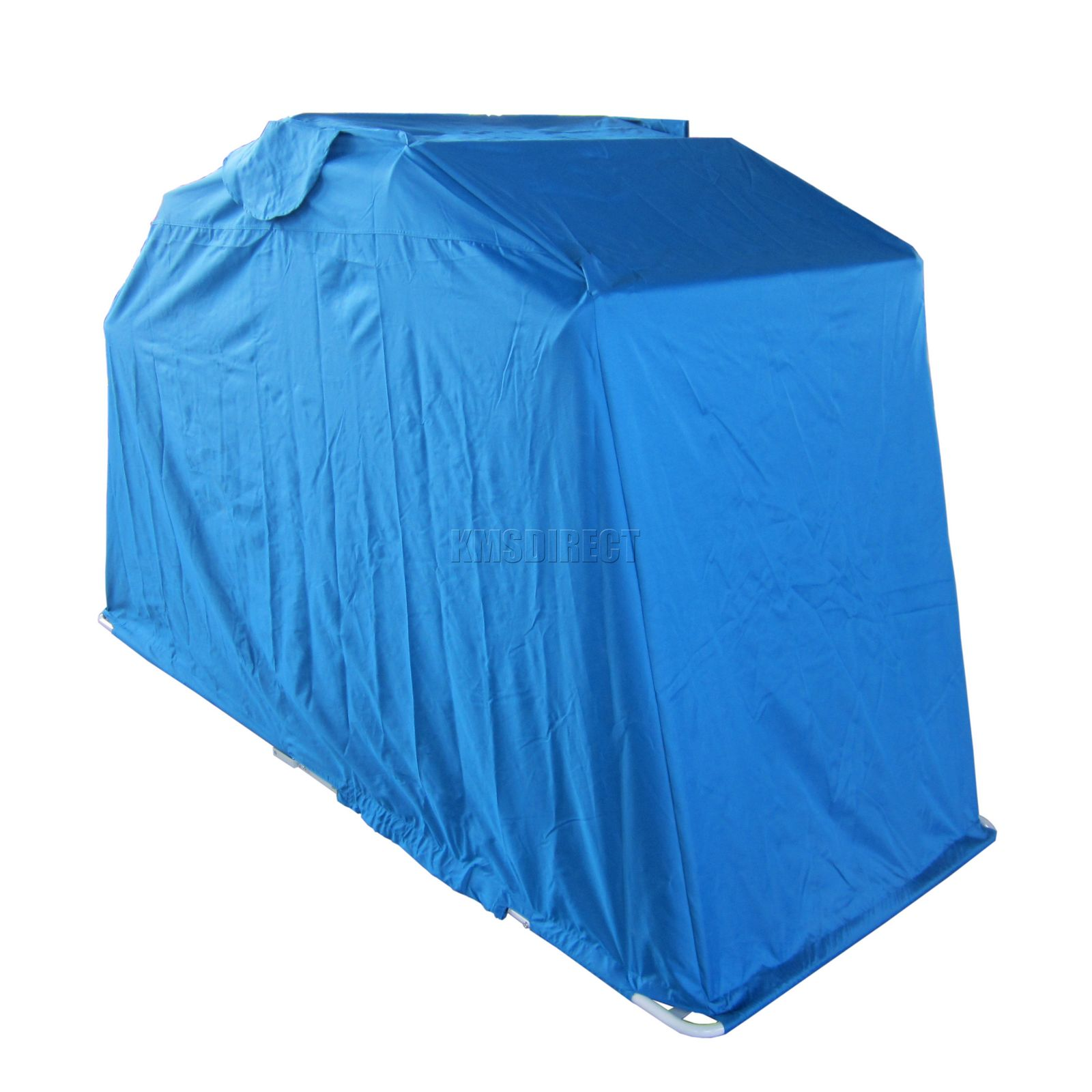 Blue motor bike folding cover storage shed waterproof outdoor tent garage medium ebay - Motorcycle foldable garage tent cover ...