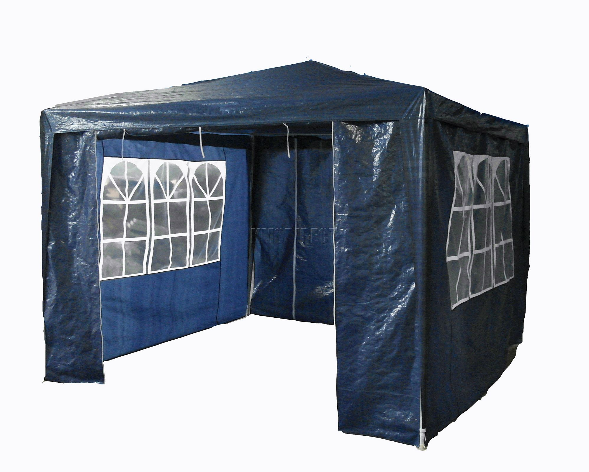 wasserdicht blau 3m x 3m outdoor garden pavillon partyzelt festzelt sonnensegel vordach. Black Bedroom Furniture Sets. Home Design Ideas
