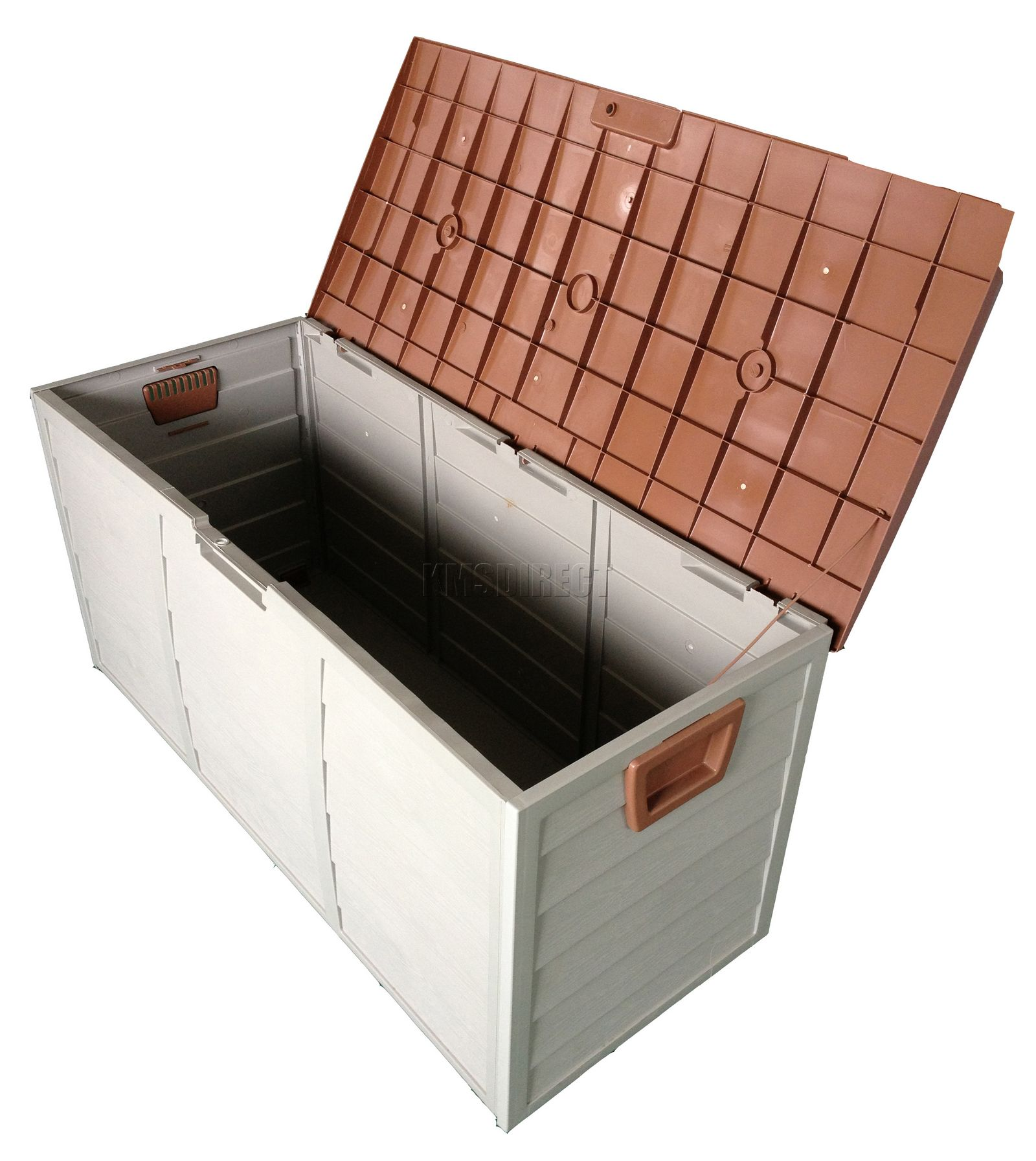 Brown Garden Plastic Storage Utility Chest Shed Box Case