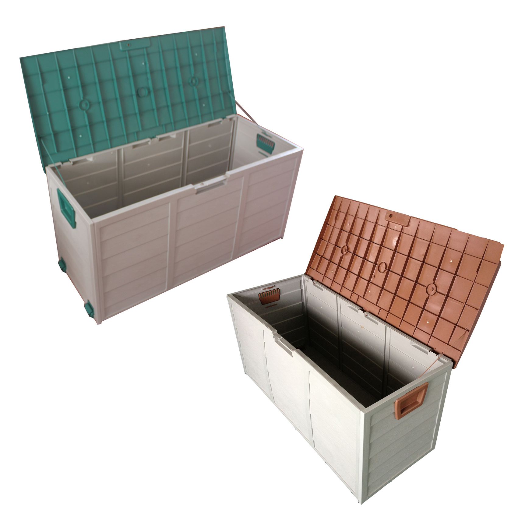 New Garden Outdoor Plastic Utility Storage Chest Shed Box Case Container Wheels
