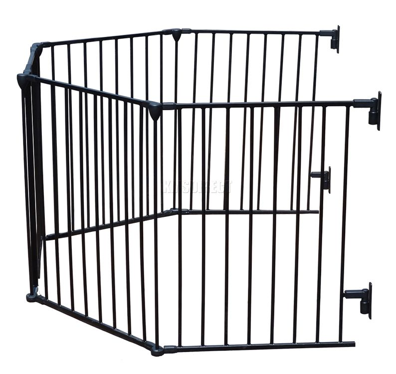 Baby Child Hearth Gate Room Divider Safety Guard Metal