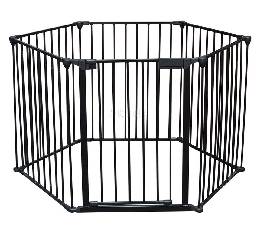 Black Metal Baby Child Hearth Gate Room Divider Safety