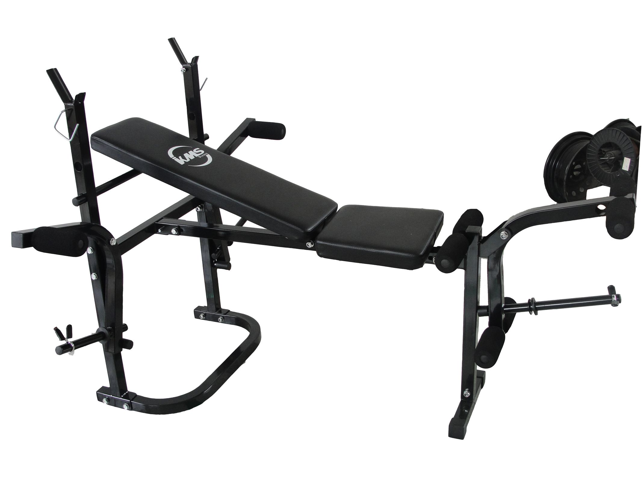 Charming Bench Press Abs Part - 7: Foldable Gym Fitness Weight Lift Bench Press Arm Leg Curl Abs Workout  Equipment