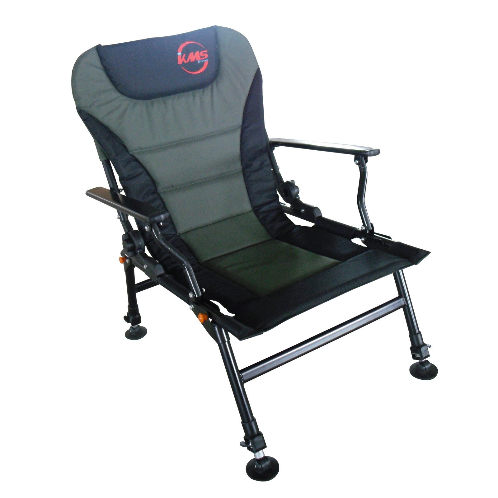 L Fishing Arm Rests Chair Folding Camping Recliner 4