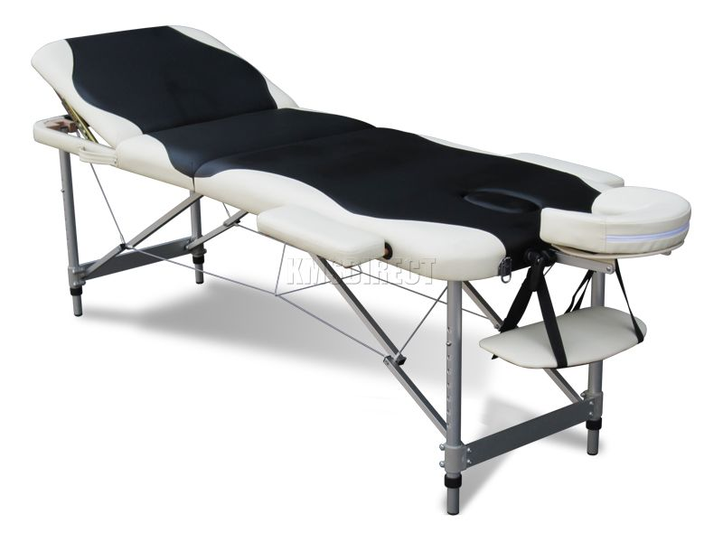 Table de massage pliante portative l g re 3 sections luxe ebay - Table de massage legere ...