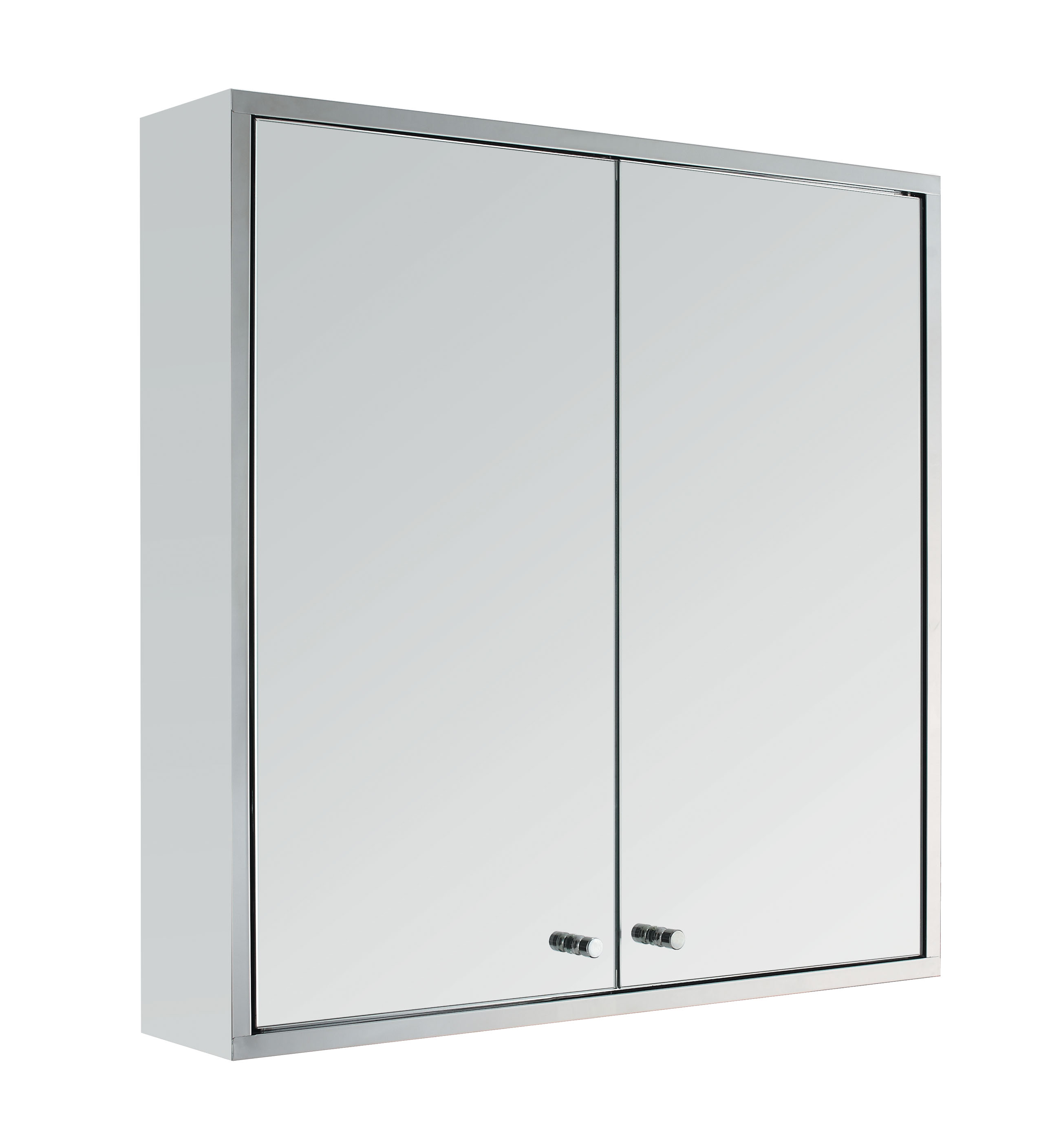 Stainless steel double door wall mount bathroom cabinet storage cupboard mirror ebay for Bathroom mirror cupboard