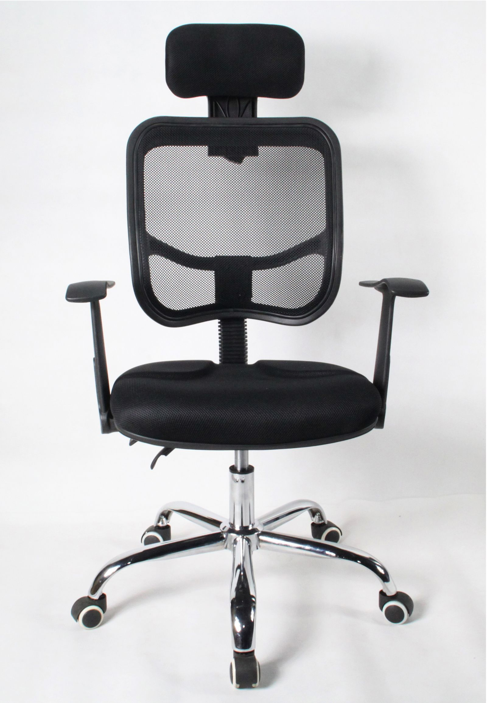 Adjustable Reclining Executive Office Computer Mesh Chrome Chair Black