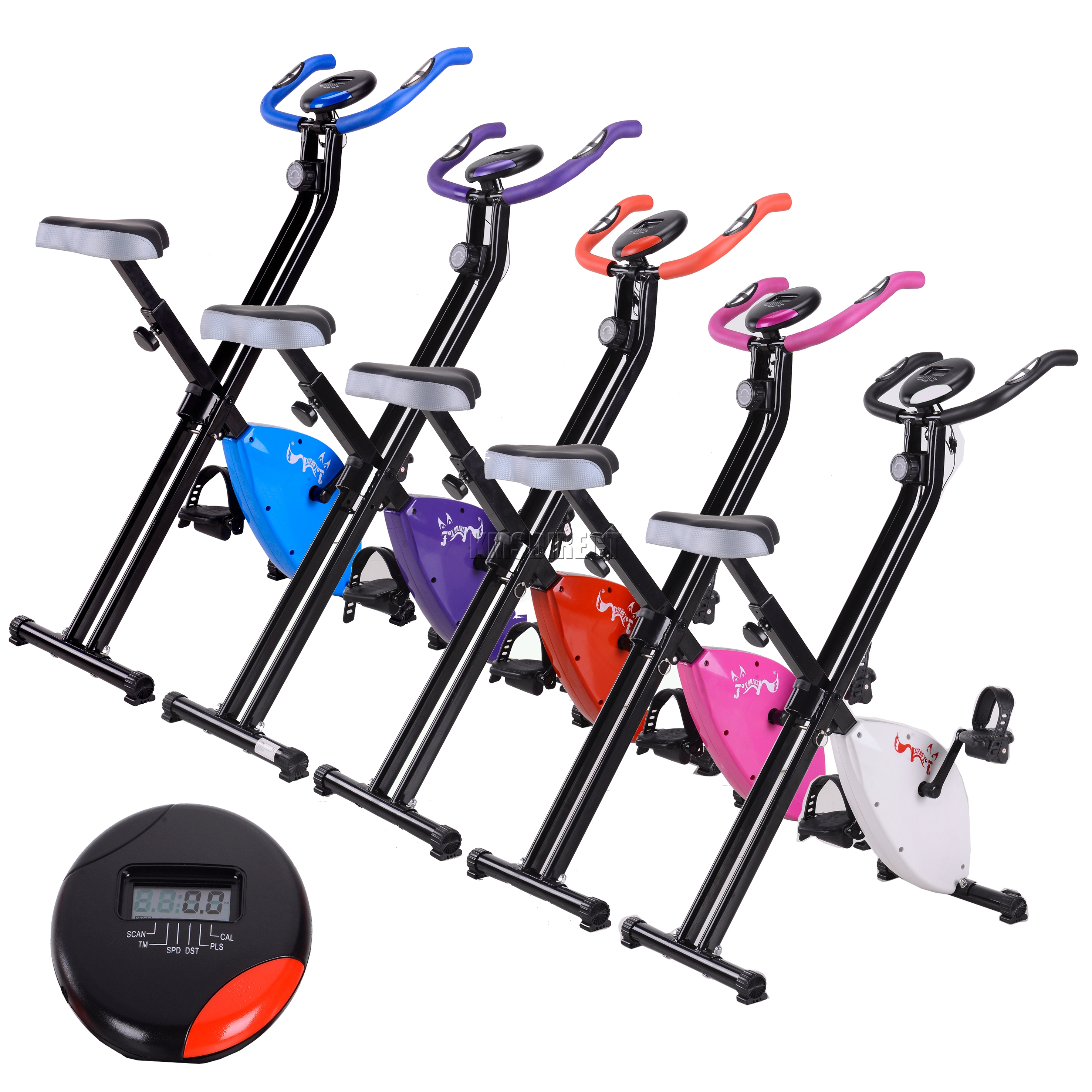 Exercise Bike Folding Magnetic X-Bike Fitness Cardio Workout Weight Loss Machine