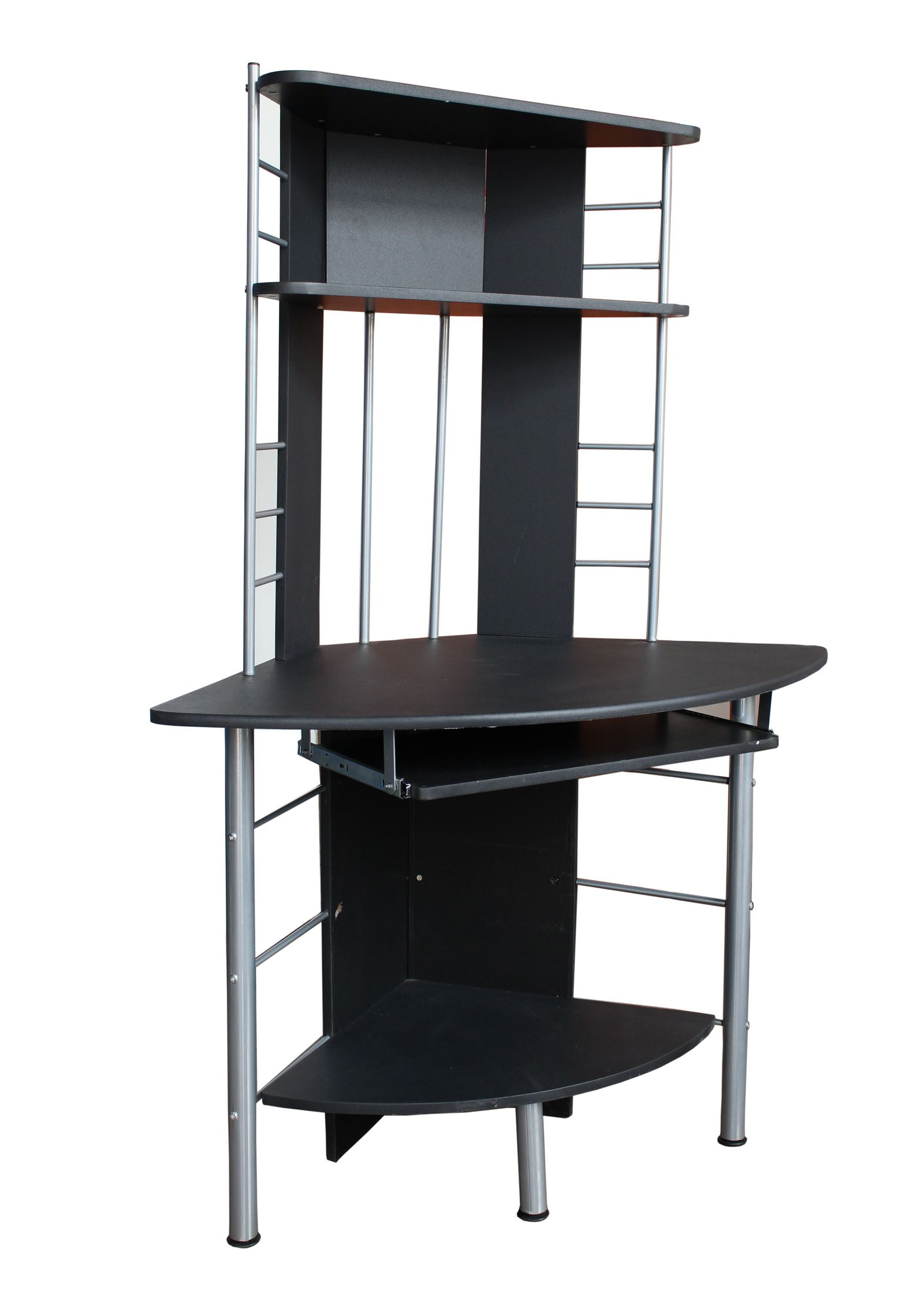 heim b ro computer schreibtisch schwarz pc arbeitsplatz m bel eckm bel 017 ebay. Black Bedroom Furniture Sets. Home Design Ideas