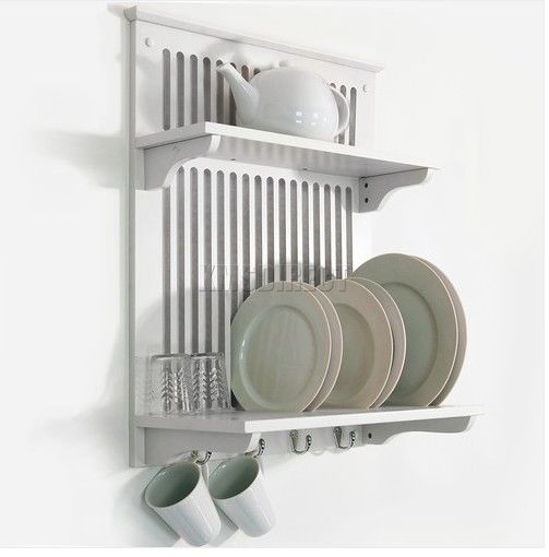 Wall Mounted Kitchen Dish Plate Cup Bowl Towel Drainer